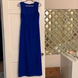 Peacock Blue Gianni Bini Maxi Dress